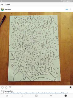 A B C D E F G H I J K L M N O P Q R S T U V W X Y Z Graffiti Letter T, Graffiti Alphabet Styles, Graffiti Images, Graffiti Lettering Fonts, Graffiti Writing, Tattoo Lettering Fonts, Graffiti Tagging, Graffiti Styles, Cool Lettering