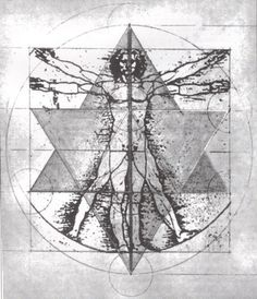 Da Vinci's Vetruvian Man and Sri Yantra field Vitruvian Man Tattoo, Drunvalo Melchizedek, Anubis Tattoo, Magical Tree, Sri Yantra, Sacred Geometry Art, Everything Is Awesome, Flower Of Life, Glyphs