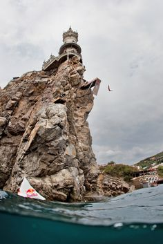 The Red Bull Cliff Diving World Series in Southern Ukraine