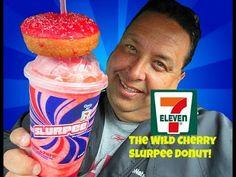 7-Eleven Wild Cherry Slurpee® Donut REVIEW!