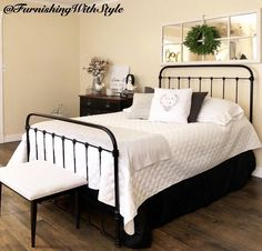 Love being able to bring something so beautiful back to life again👩🏻🎨 Hgtv, Farmhouse Style, Bed, Life, Furniture, Vintage, Beautiful, Home Decor, Decoration Home