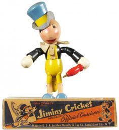 Ideal Novelty Co. Wood Jointed Jiminy Cricket