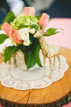Fun Baby Shower in Mint, Peach, and Gold