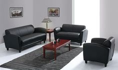 Manhattan Series shown in Black Top Grain Leather    http://www.officesourcefurniture.com/products/display/reception_room-and-lounge/OfficeSource/Manhattan_Series/