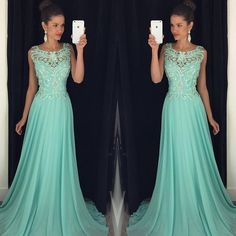 Elegant Prom Dresses, Chiffon beads A line Prom Dress,Elegant Prom Dress,Modest Prom Dress ,Long Sequins Graduation Dress,Beading Party Dress,Evening Dress,Dress For Prom