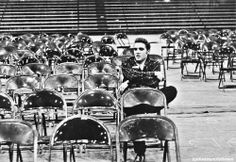 Elvis Presley, University of Dayton (Ohio) Fieldhouse, May 27, 1956    by Marvin Israel