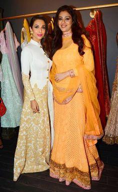 Malaika Arora at opening of designer Mayyur Girotra's store, Actress Malaika Arora Khan looking beautiful in white dress with golden work at the opening..