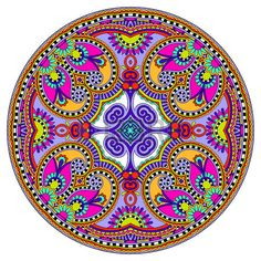 You can use this pattern in the design of carpet, shawl, pillow, cushion, raster version Mandala Art, Mandala Painting, Flower Mandala, Dot Painting, Mandala Design, Sacred Geometry Tattoo, Spirograph, Mandala Coloring, Art Pages