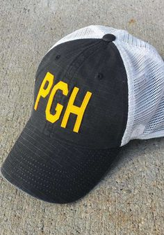 Pittsburgh Raggs Meshback Adjustable Hat - Black - 10010023 Pittsburgh Pirates, Pittsburgh Penguins, Pittsburgh Steelers, Temporary Store, Pitt Panthers, Hats, Contrast, Applique, Mesh