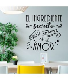 Kitchen Wall Stickers, Cheap Wall Stickers, Wall Decals, Wall Painting Decor, Kitchen Interior, Kitchen Decor, Dream Wall, Wall Quotes, Home Decor Accessories