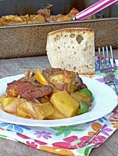 pollo alle patate limone e olive