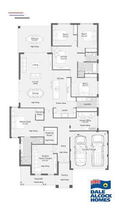 Heimstätte I Dale Alcock Homes - Traumhaus Best House Plans, Dream House Plans, House Floor Plans, Home Design Floor Plans, Bedroom Floor Plans, House Layout Plans, House Layouts, Farmhouse Layout, House Blueprints