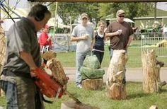 Carving out his place at the McHenry County fair Wisconsin Dells, Chainsaw Carvings, County Fair, Statues, Places, Lugares, Effigy
