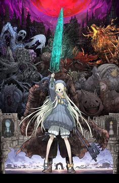 [FGO X BloodBorn]Subspecies Beast Bleed Thickening Bloodborne = Yanam in Ae … - Modern Dark Fantasy, Fantasy Art, Character Concept, Character Art, Character Design, Anime Kunst, Anime Art, Illustrations, Illustration Art