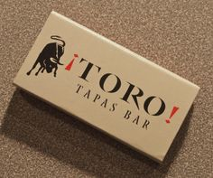 TORO Tapas.Circa 1998.USA produced BXQ1 Narrow Flat 10 stick #matchbox. Pic. by Joe Danon. To order your business' own branded #matchboxes call 800.605.7331 or goto: www.GetMatches.com