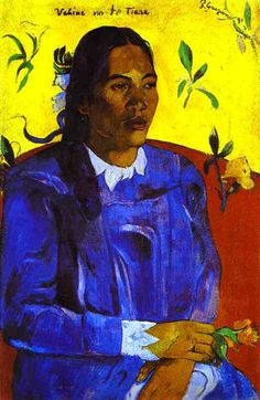 "Paul Gauguin. ""Woman with a Flower"""