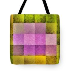 Pink Flower Geometry Tote Bag by Grigorios Moraitis