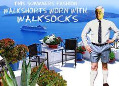 Walkshorts  walk socks tube socks  summer shorts legs fashion