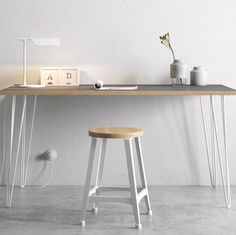 Hairpin Leg Desk grey