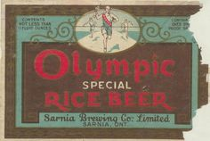 Olympic Special Rice Beer by Thomas Fisher Rare Book Library, via Flickr