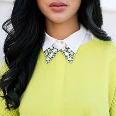 Neon and embellished collar