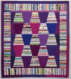 "One of my favorite quilt show vendors is Pat Yamin of ""Come Quilt With Me."" (She is also a founding member of my guild, Empire Quilters in . Scrappy Quilts, Mini Quilts, Lap Quilts, Quilting Projects, Quilting Designs, Quilting Ideas, Quilting Tutorials, Tumbler Quilt, Crumb Quilt"