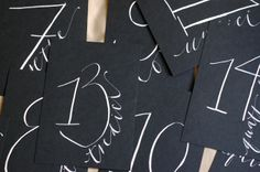 Day-Of Wedding Stationery Inspiration and Ideas: White on Black via Oh So Beautiful Paper (7)