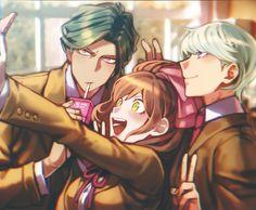 Juzo, Chisa and Kyosuke // DanganRonpa 3 zetsubou hen