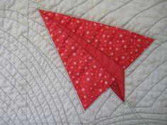 Paper Plane Quilt Detail