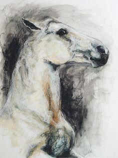 OOAK Reared up Horse II Drawing via Etsy