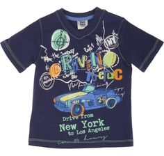 T-shirt marino driving driving, para menino - tuc tuc