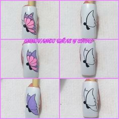 Butterfly Nail Designs, Butterfly Nail Art, Nail Art Designs, Fancy Nail Art, Fancy Nails, Rose Gold Nails, Diamond Nails, Nail Tech School, Belle Nails