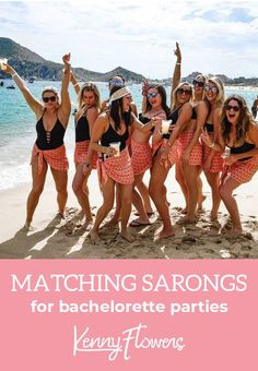 Chic affordable matching bikini cover ups for bachelorette parties looking for a fun unique gift for your girls that they'll wear over & over again. Group discount of off for groups of 6 with the code BACHPARTY Bachelorette Party Planning, Vegas Bachelorette, Bachlorette Party, Bachelorette Party Shirts, Pool Party Outfits, Party Clothes, Party Dress, Bikini Cover Up, Marie