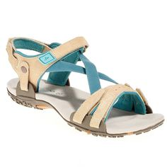 Sandals Hiking - Sand. Arp Switch* Beige/Blue QUECHUA - Hiking Footwear and Accessories
