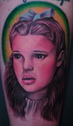 9a0bf68b772d7 my dorothy gale (judy garland) portrait. done by devin hodge @ lost time  tattoos in south charleston, wv.