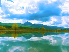 New print available on fineartamerica.com! - 'Mountains Reflecting On A Lake' by Lanjee Chee - http://fineartamerica.com/featured/mountains-reflecting-on-a-lake-lanjee-chee.html via @fineartamerica