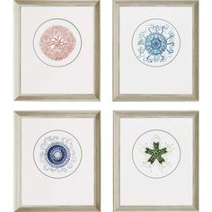 "Paragon Ocean Gems by Unknown Waterfront Art (Set of 4) - 28"" x 24"" - 7038"
