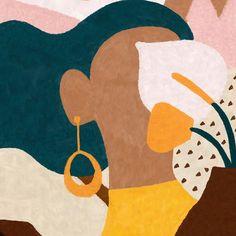 Colorful abstract woman painting via Kunst Inspo, Art Inspo, Art And Illustration, Illustrations, Modern Art, Contemporary Art, Minimal Art, Colorful Paintings, Grafik Design