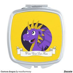 Cartoon dragon compact mirrors