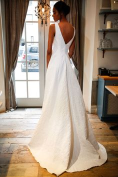 Lela Rose. See more gorgeous gowns you MUST see from the back.