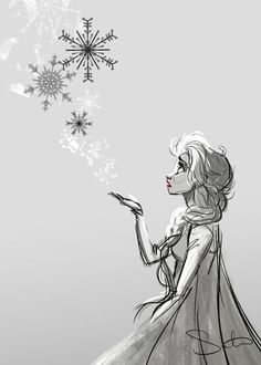 Elsa and Snowflakes