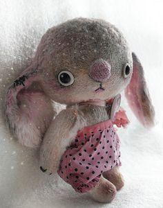 Мишки Тедди ручной работы. Ярмарка Мастеров - ручная работа Думала, весна...(для Танюши). Handmade.