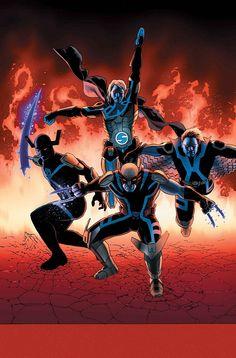 Horsemen of Apocalypse Banshee, Grim Reaper, Sentry, and Wolverine