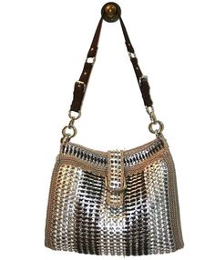 Ronald McDonald - Crochet Purse Made from Pop Tabs for Women - Vegan, Brown and Beige Shoulder
