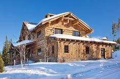 log cabin exterior  http://www.houzz.com/photos/5730768/Spanish-Peaks-Cabin-rustic-exterior-other-metro