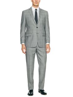 Gray Glen Plaid Suit