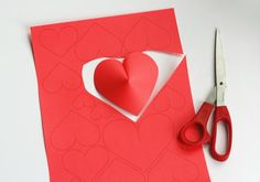 DIY Wall Paper Hearts For Valentine's Day Decor - Shelterness How To Make Decorations, Heart Decorations, Paper Decorations, Crafts To Make, Diy Crafts, Valentines Day Hearts, Valentine Day Crafts, Valentine's Day Paper Crafts, Saint Valentin Diy