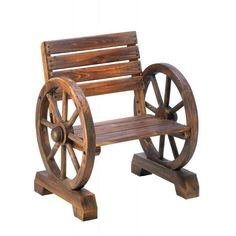 Outdoor Chairs Old Country Wagon Wheel Chair - Oxemize.com