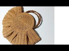 Crochet Round, Bead Crochet, Crochet Crafts, Crochet Baby, Crochet Handbags, Crochet Purses, Crochet Stitches, Crochet Patterns, Granny Square Bag