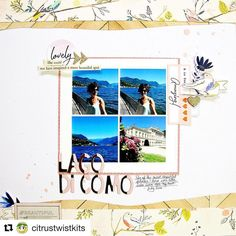 My first blog post for @citrustwistkits . This layout was created for the Sunday sketch. You can see more on the citrus twist blog. @americancrafts @maggiehdesign